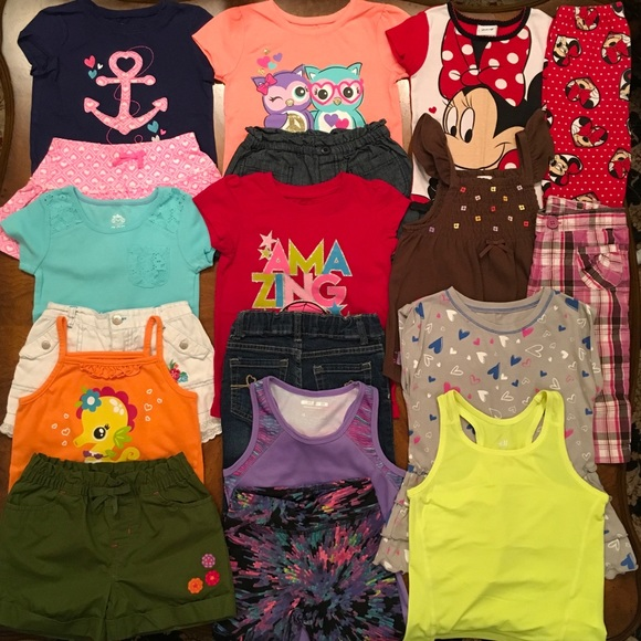 d2d4268a 🐙Lot Of Toddler Girl Summer Clothes Size 4T🐙